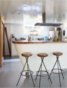 Rubber flooring is a great option for kitchens, bathrooms or casual rec room spaces.