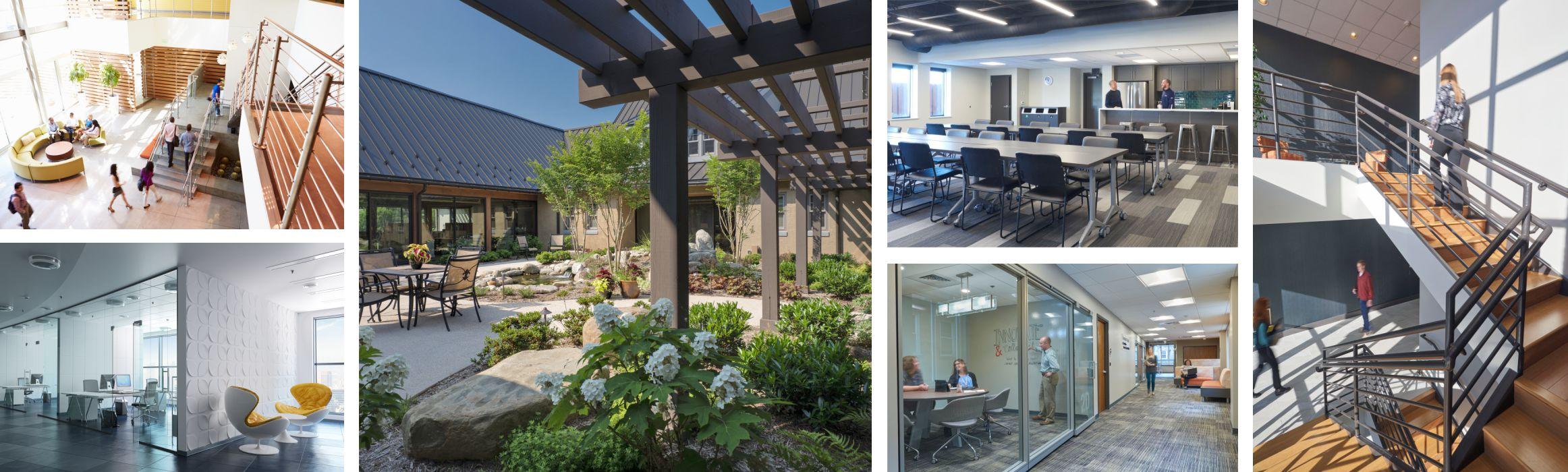 several sample photos of contemporary office design