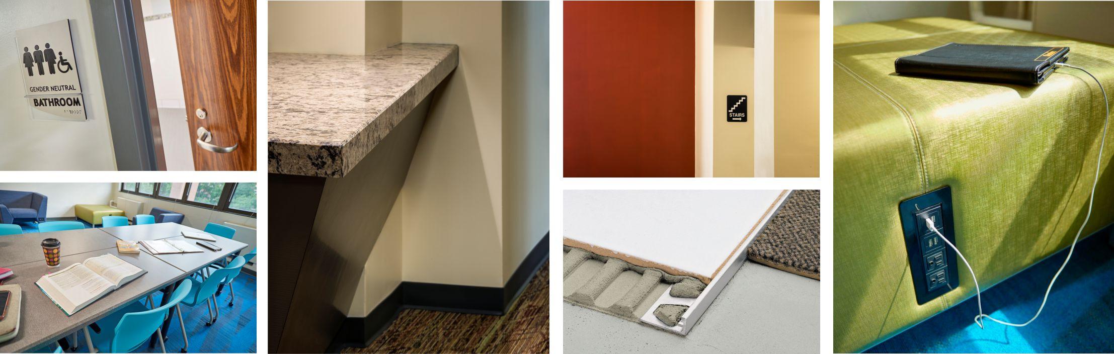 collage of interior design details