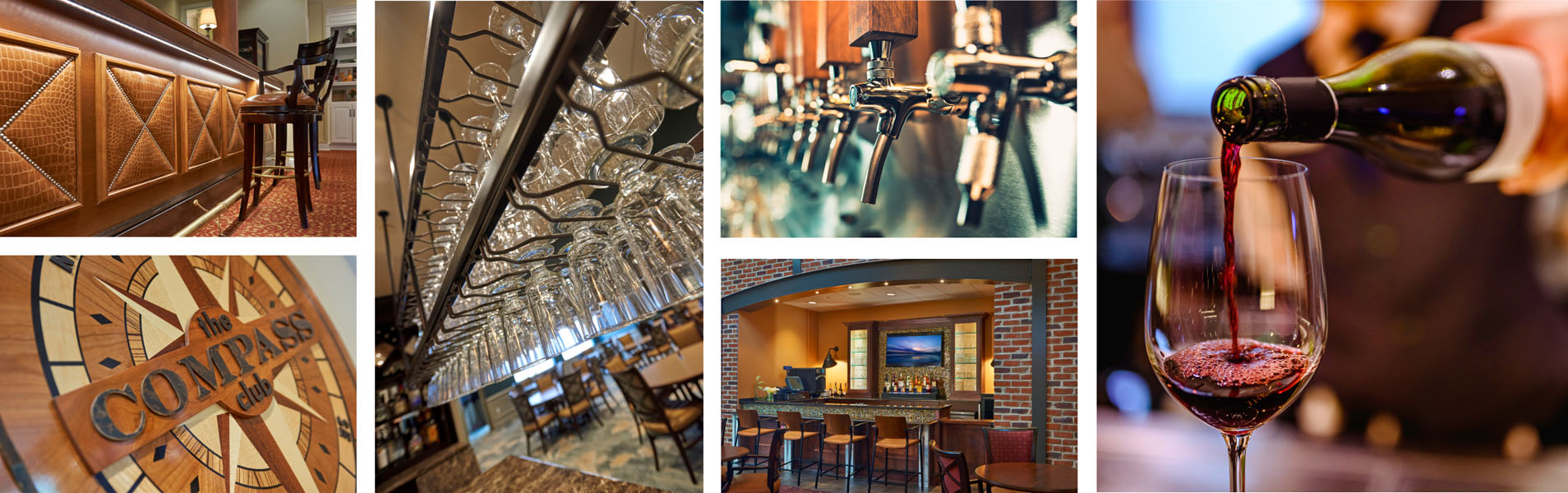 collage of photos taken at bars