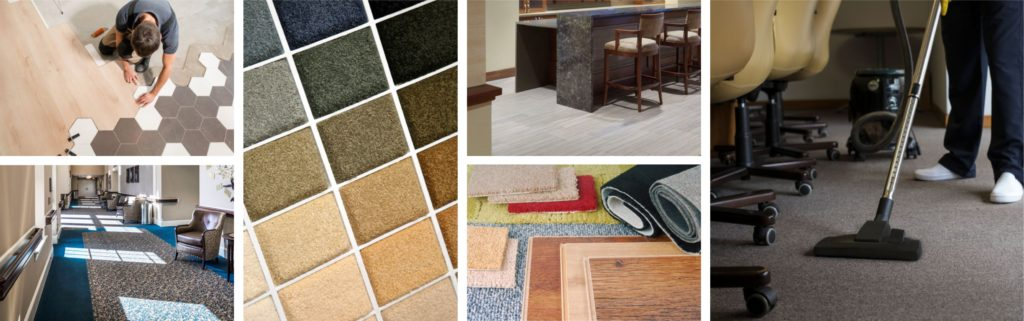 collage of flooring and carpeting ideas for interior spaces