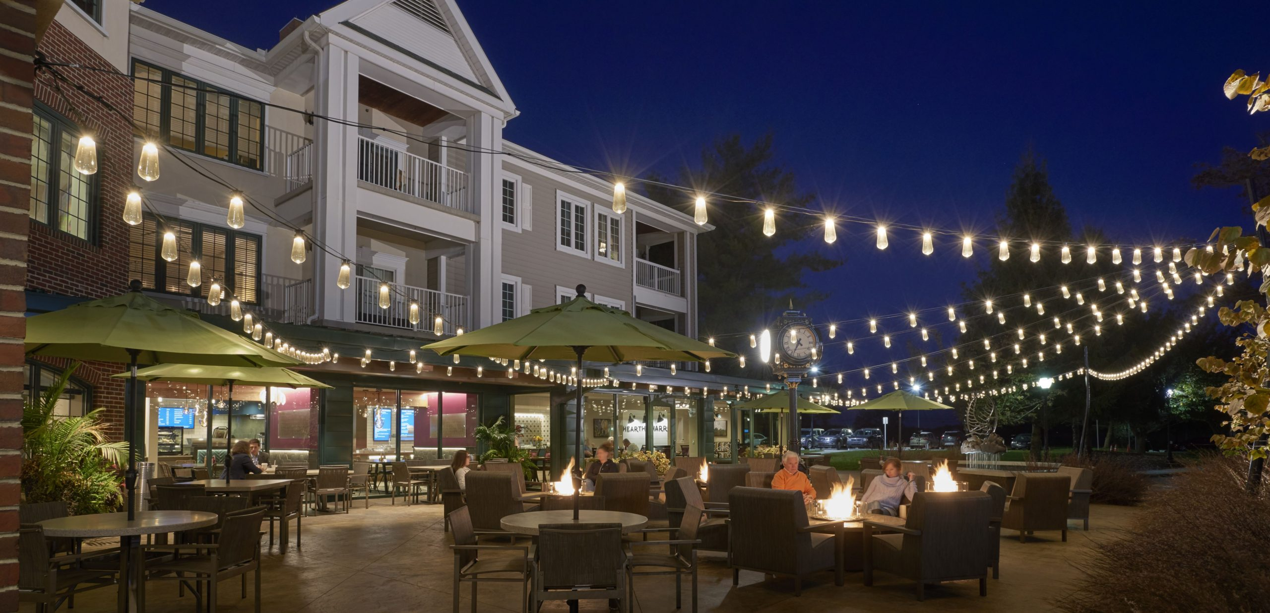lighting for night and day use is another design trend for outdoor venues
