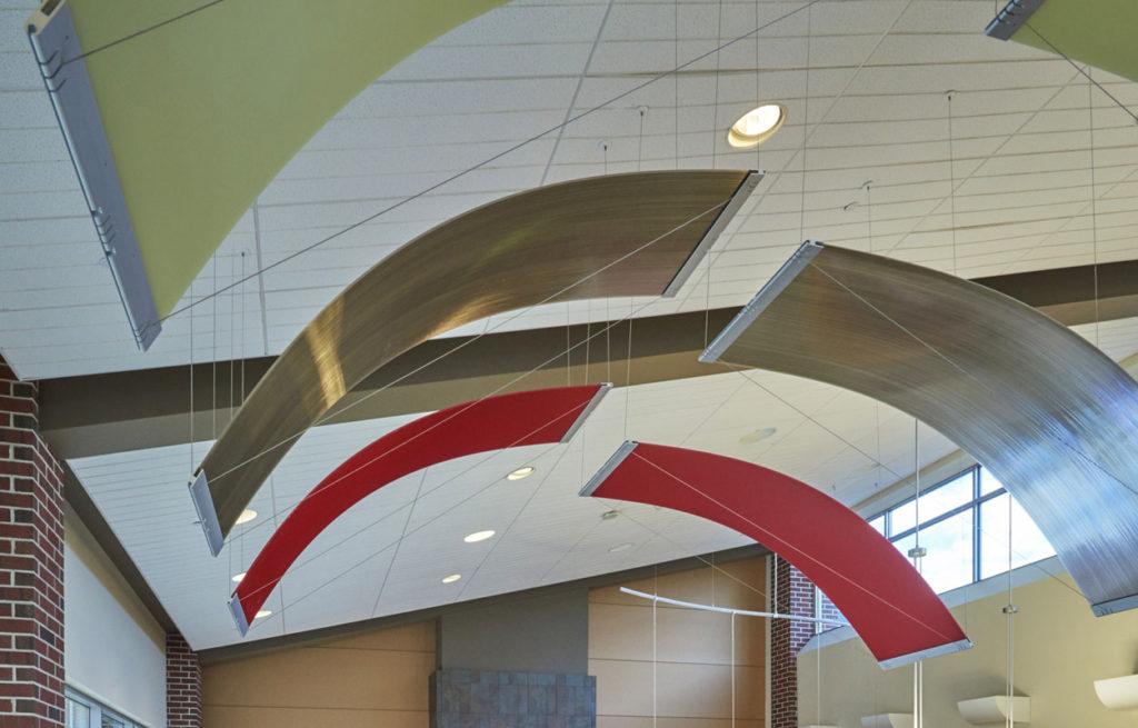 Biophilic hangings inside a school